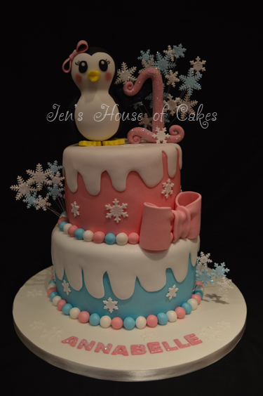 1st Birthday Winter Wonderland Cake